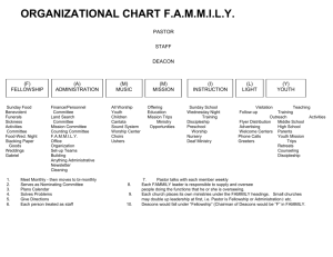 organizational chart f - Baptist Convention of New England