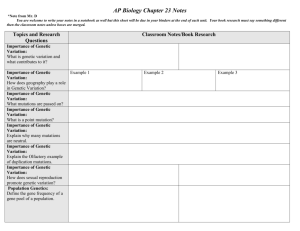 AP Biology Chapter 5 Notes