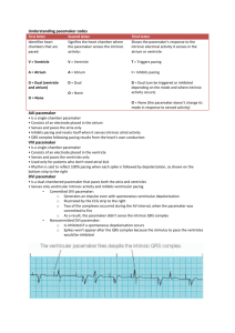 Understanding pacemaker codes First letter Second letter Third