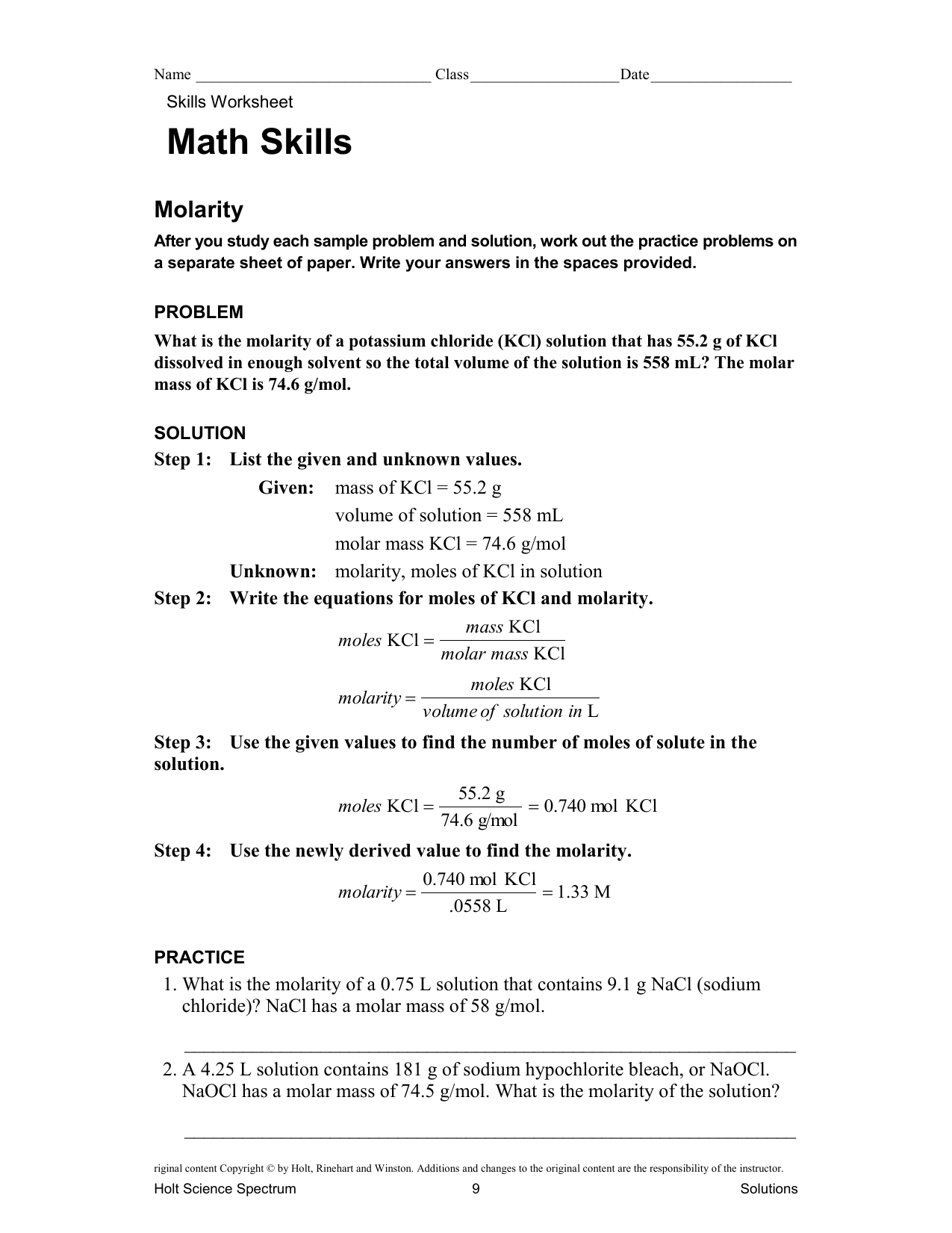 Fillable Online Molarity Worksheet  1 Fax Email Print   PDFfiller additionally Solutions Worksheet  1  Molarity Molar M of M       Date as well stoichiometry worksheets answer key – trungcollection together with Molarity Calculations Worksheet   holidayfu further Half Life Calculations Worksheet Answers ly Nuclear Chemistry as well  additionally  likewise chem 11 additionally Molar M Practice Worksheet likewise Molarity Practice Problems Worksheet for 11th   Higher Ed   Lesson furthermore Molarity Practice Worksheet   Harrison High Pages 1   19 besides Quiz   Worksheet   How to Calculate Molarity and Molality furthermore Drawing atoms Worksheet Answer Key Phase Diagram Worksheet Chemistry besides Free Balancing Equations 3 Worksheet Answers Chemfiesta in addition Molarity Practice HW as well Chem WS on Solution  Stefan answer Key. on molarity calculations worksheet answer key