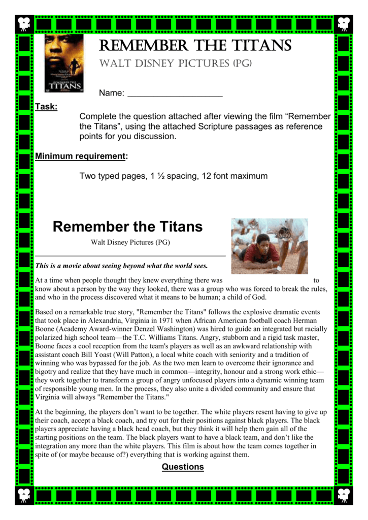 remember the titans team dynamics analysis