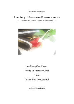 Recital Programme - University of Southampton