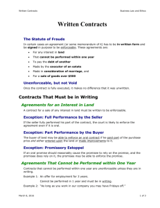 Written Contracts