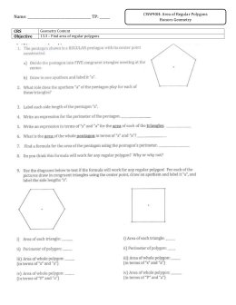 Name: TP: ______ CRS Geometry Content Objective 13.3 – Find