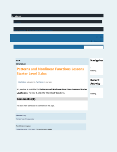Patterns and Nonlinear Functions Lessons Starter Level 3
