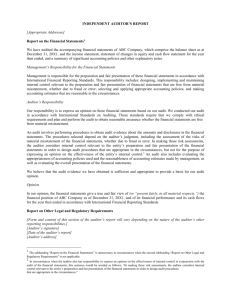 Example of a Management Representation Letter