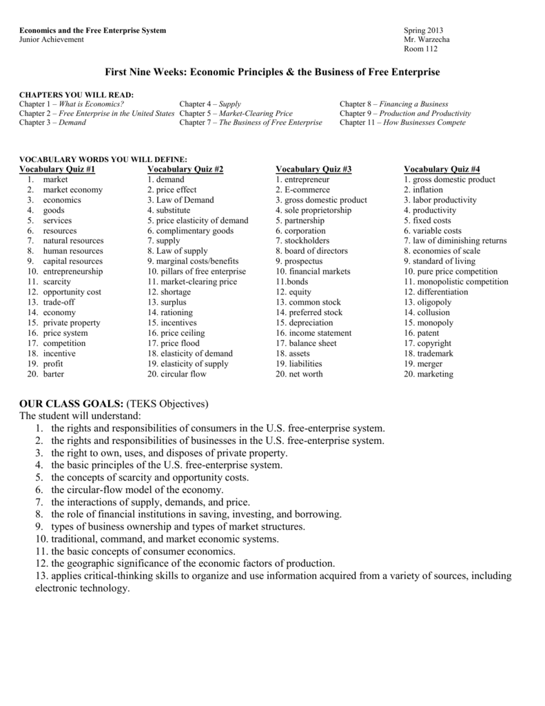 economic vocabulary activity chapter 7 demand and supply answer key