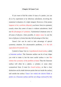 Chapter 16 Gauss' Law