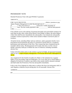 promissory note - Alpine Property Management