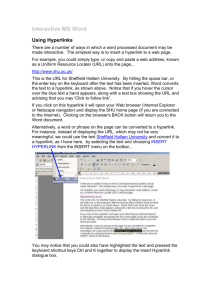 Interactive MS Word - Sheffield Hallam University