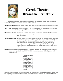 Dramatic structure of oedipus rex