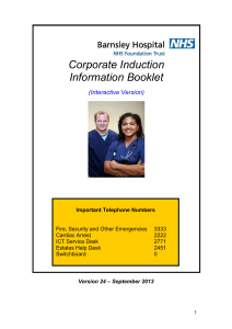 Corporate Induction Information Booklet 2014