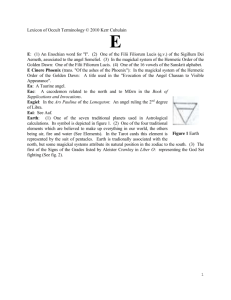 "E: (1) An Enochian word for ""I"""