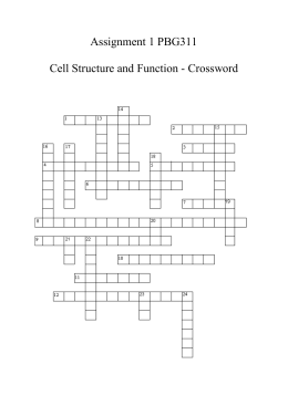 Cell structure and function crossword puzzle cell structure and function ccuart Choice Image