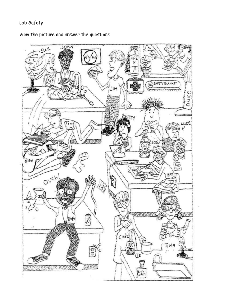 Worksheets Lab Safety Cartoon Worksheet lab safety cartoon fulton county schools