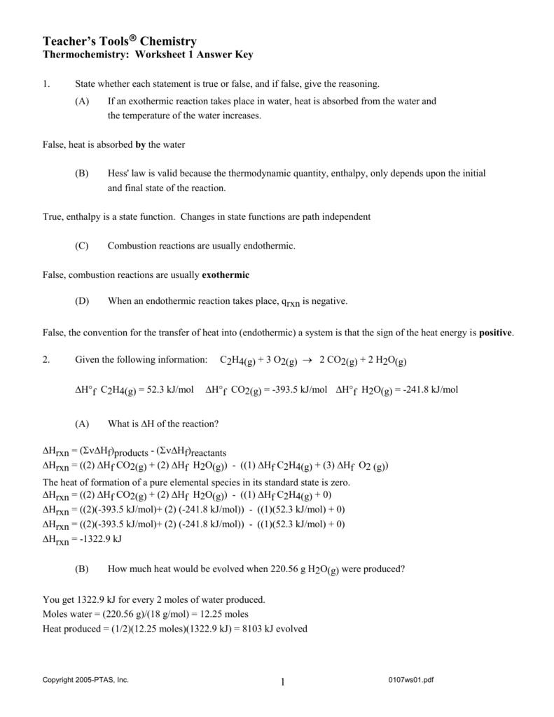 ap chemistry lab answers hess law