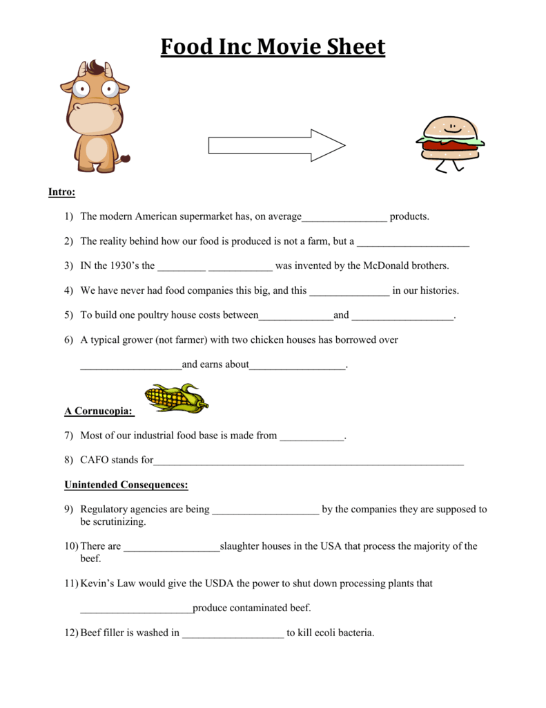 worksheet. Food Inc Worksheet. Grass Fedjp Worksheet Study Site
