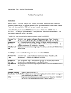 Tech Cast Planning Sheet