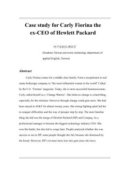 Human Resources at Hewlett-Packard (B) Case Solution