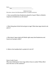 Othello Act III Quiz