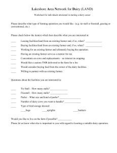 Beginning Farmer Worksheet