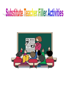 Filler Activities Form as many words as you can from the letters in