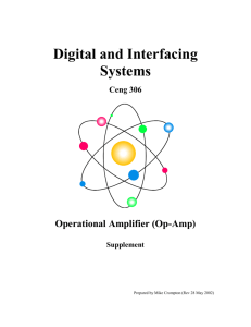 Operational Amplifiers (Op