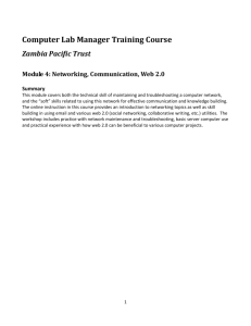 Module 4: Networking, Communication, Web 2.0
