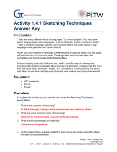 Activity 1.4.2 Sketching Techniques Answer Key