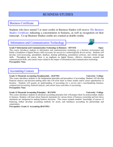 Business Studies Courses