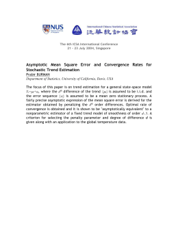 Asymptotic Mean Square Error and Convergence Rates for