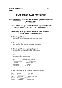 Past Tense, Past Participle