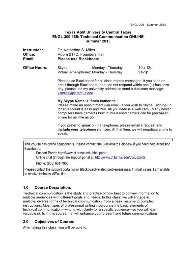 Syllabus Template-Required Content