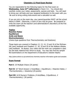 SCH4U - Exam Prep & Review