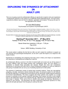 exploring the dynamics of attachment in adult life