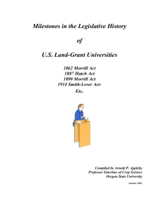 Milestones in the Legislative History