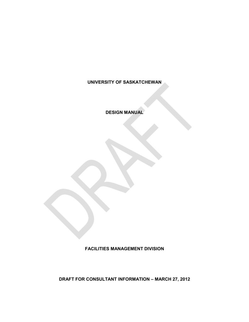 Design Manual on