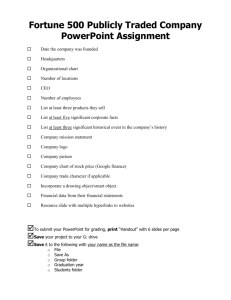 PowerPoint Company Assignment