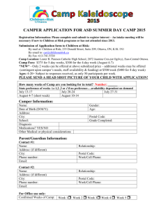 Camper Registration (Word)