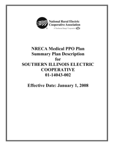 The NRECA Medical PPO Plan at a Glance