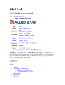 History of Allied Bank Ltd