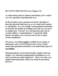 Notes on Quantum Theory