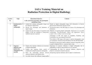Topics & Objectives - Radiation Protection of Patients