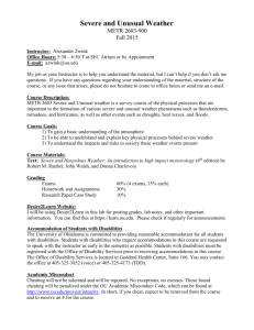 Syllabus - University of Oklahoma