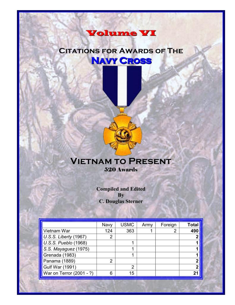 Recipients of the Navy Cross - Vietnam to Present
