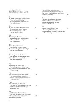 john keats la belle dame sans merci analysis