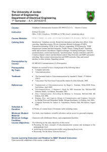 Telephone Communication Systems (EE 0903523)_syllabus