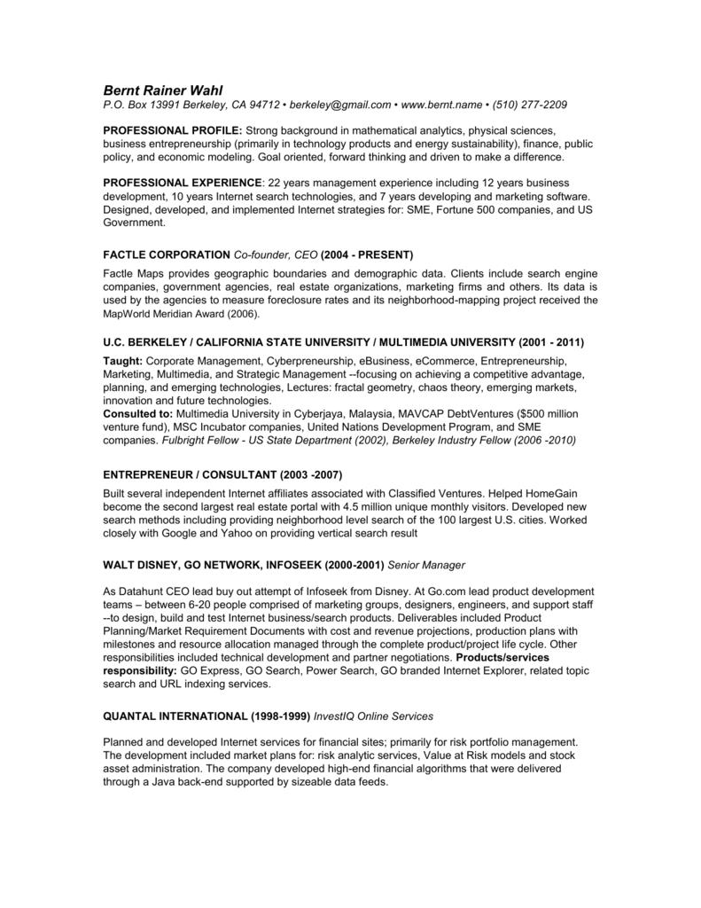 Resume - berkeley name