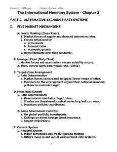 The International Monetary System - Chapter 3