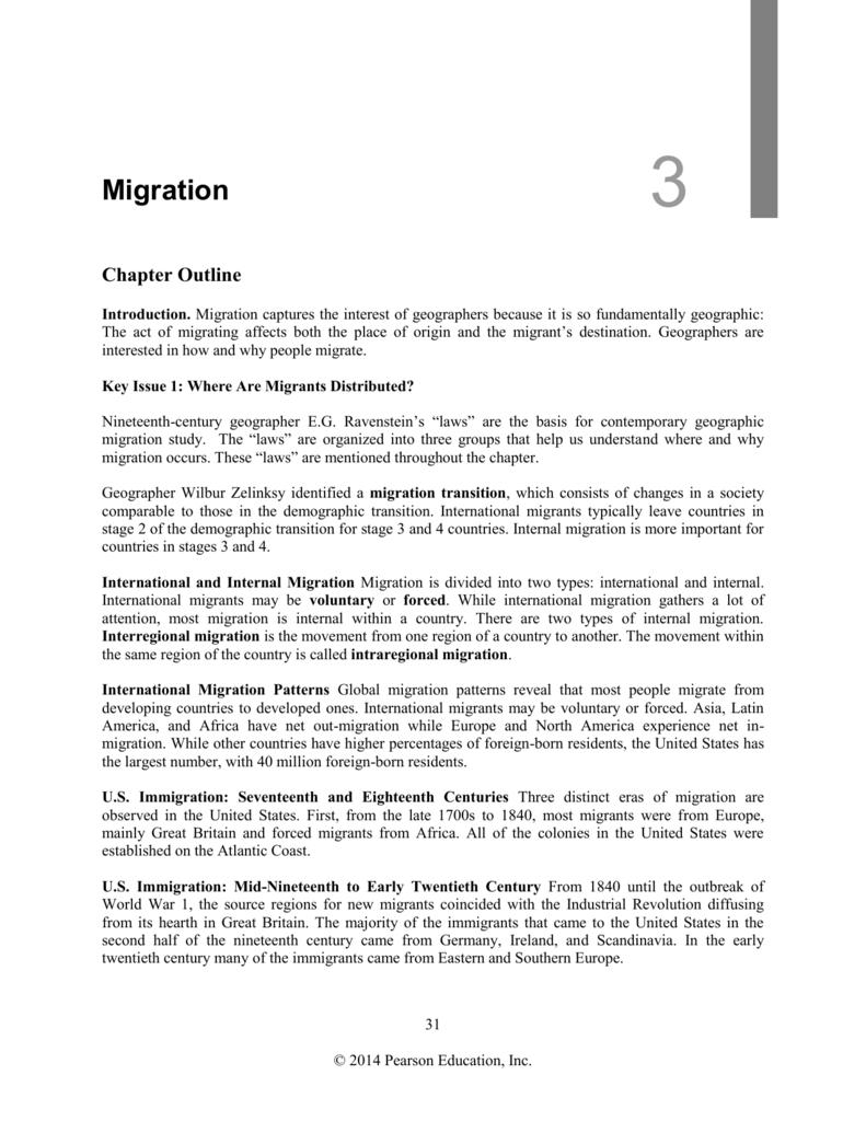 Chapter 3 Migration 3 Migration Chapter Outline Introduction
